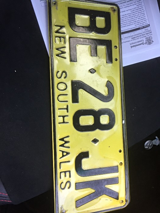 Changing over the rego plates - Buying a Motorhome interstate