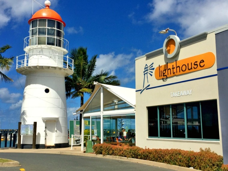 Lunch at the Lighthouse at Mackay Harbour