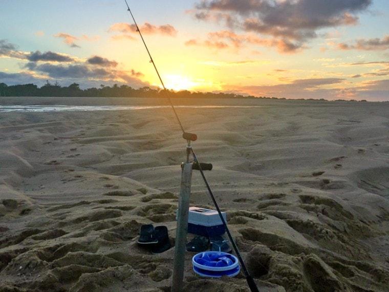 Fishing at Bucasia Beach