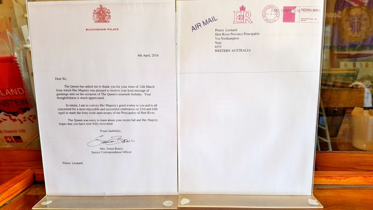 Prince Leonard's Letter from the Queen