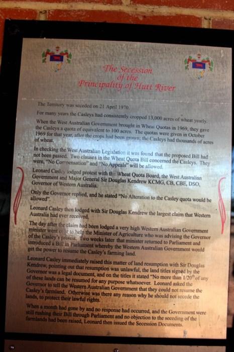 The Secession of the Principality of Hutt River