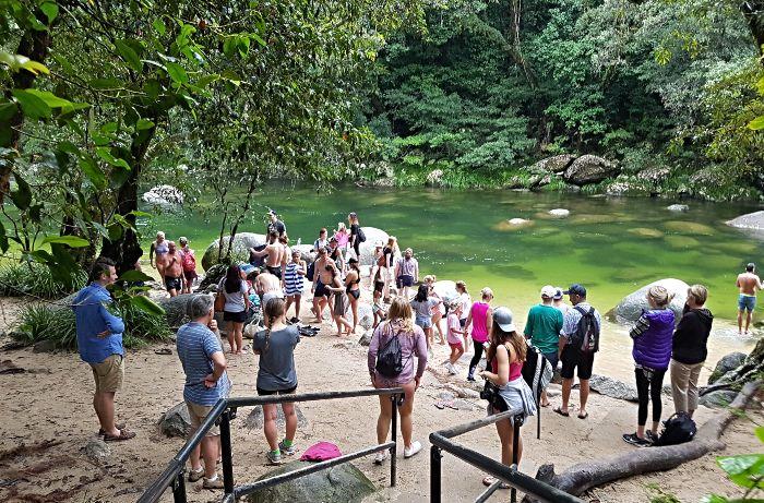 Mossman Gorge is a popular swimming spot