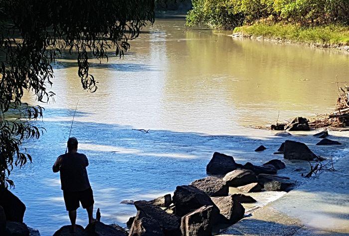 Matt fishing Cahills Crossing