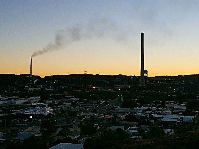 Mount Isa Lookout at sunset
