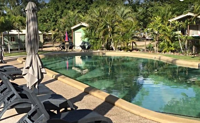 Charters Towers Caravan Park Pool and Sun lounges