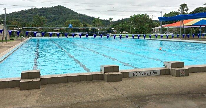 Olympic size pool next door to the Mossman Caravan Park