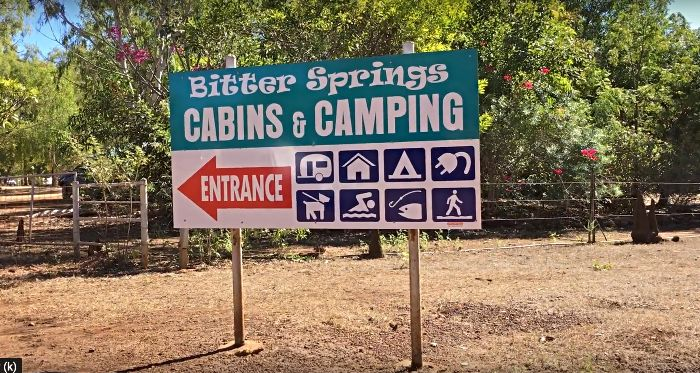 Bitter Springs Cabins and Camping Entrance