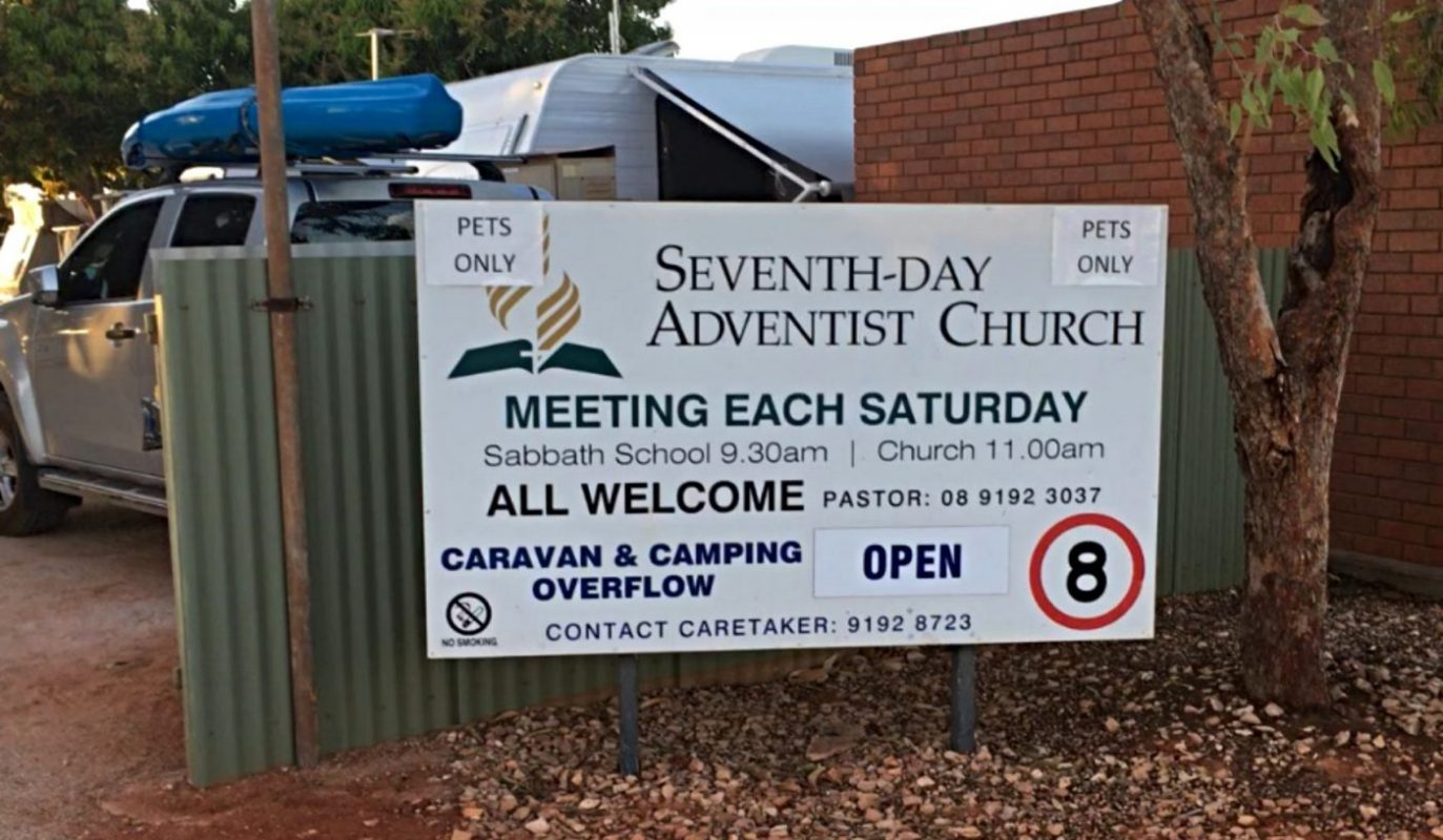 Seventh Day Adventist Campground Sign
