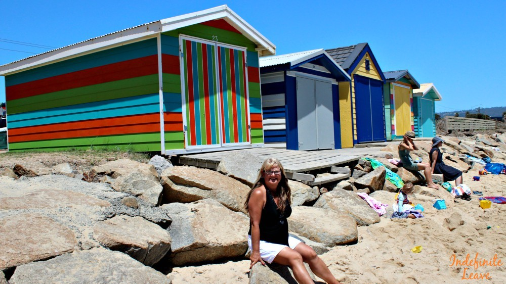 Colourful Beach Sheds at Mornington Peninsula, Victoria