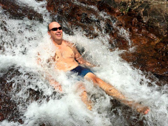 Showering in Buley Rock Hole