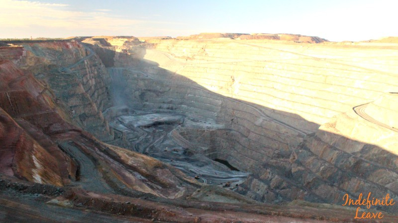 A visit to The Super Pit, Kalgoorlie WA is included in our 12 months costs for travelling Australia