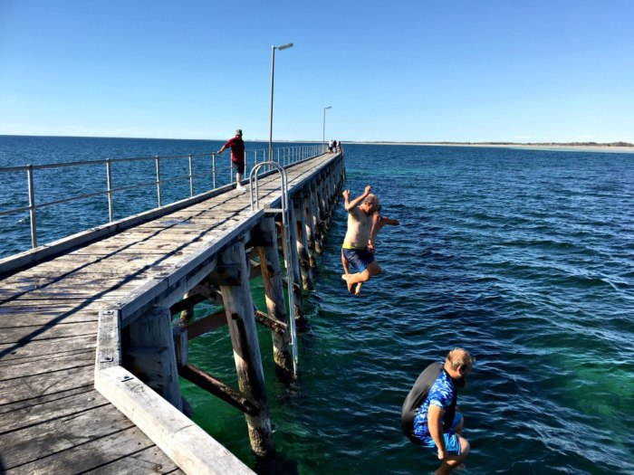 Its all about the adventure - jetty jumping