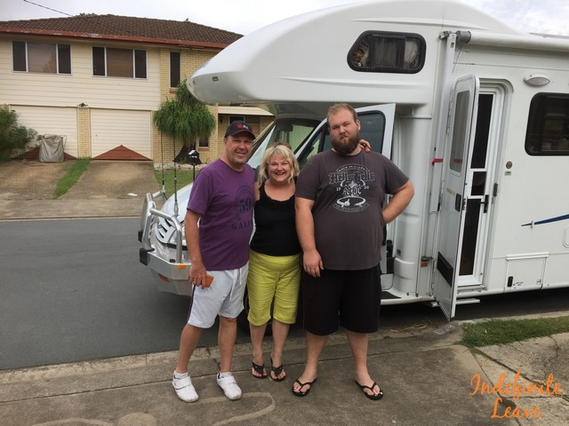 Us leaving Brisbane on our Australia by Road Adventure