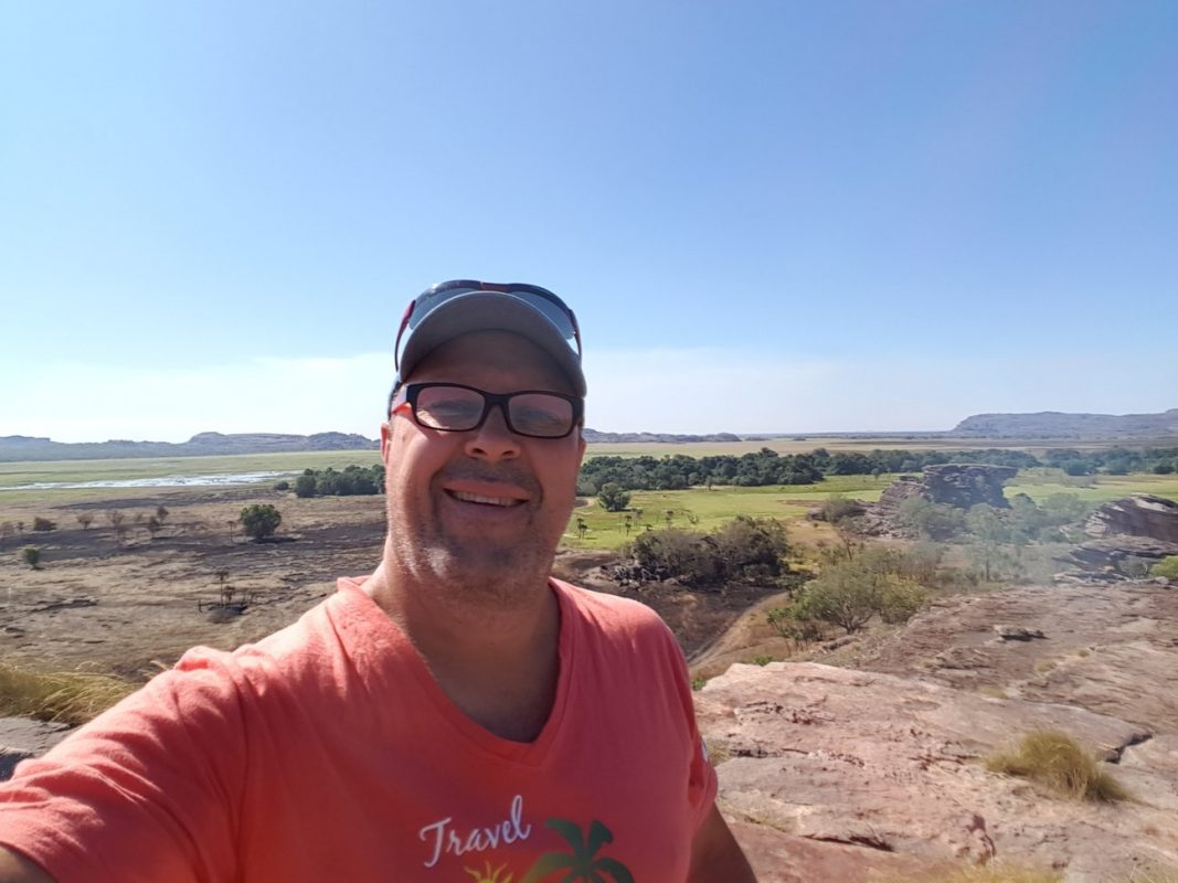 Kev at the top of Ubirr