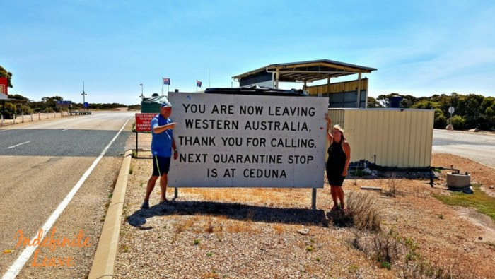 Border Quarantine Stop at Ceduna