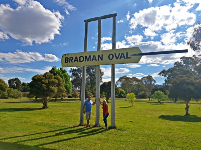 The Big Wickets Bradman Oval in Cootamundra NSW