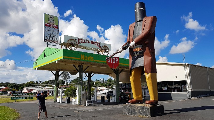 Big Ned Kelly in Maryborough Qld