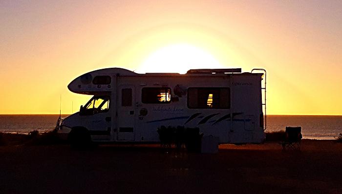 Whalebone Bay Campground Sunset