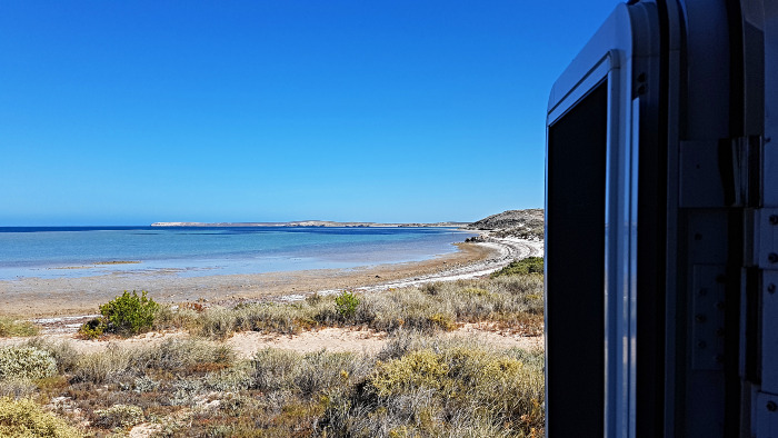 View of Whalebone Bay from our Motorhome Door