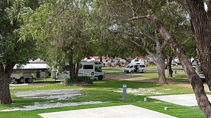 Our site at the Big 4 Emu Park Albany Caravan Park