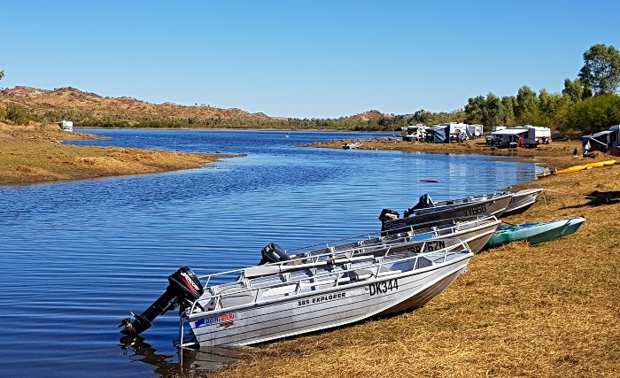 Boating is popular at Corella Dam