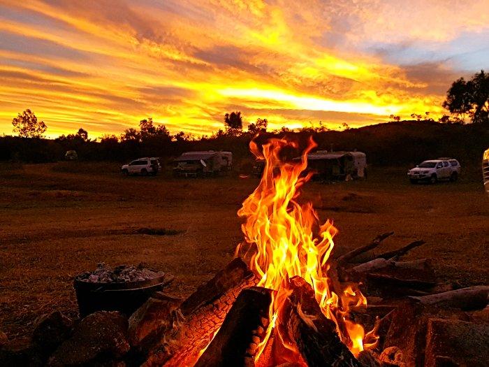 Campfire at Corella Dam