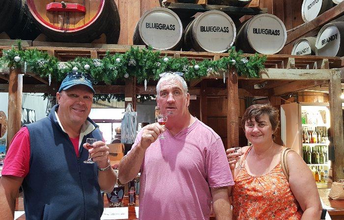 Taste Testing Wines at Echuca