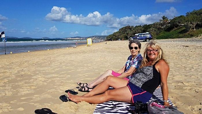 Relaxing on Rainbow Beach