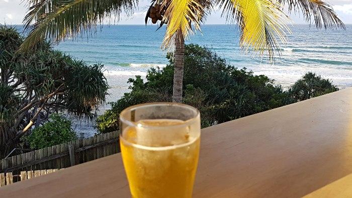 Drinks at the Rainbow Beach Surf Life Savers Club