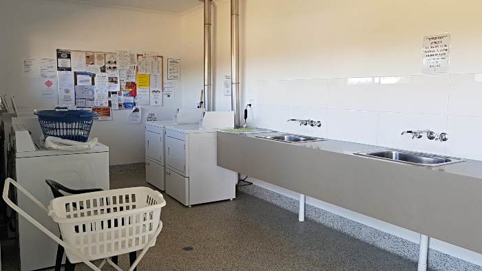 Clean modern laundry at Elliott Heads Holiday Park