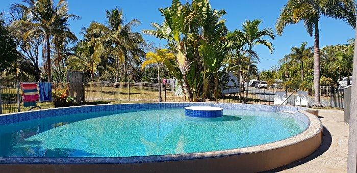 The Mackay Caravan Park Bucascia Beach pool