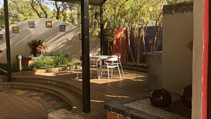 Courtyard at the Caravan Park in Albany
