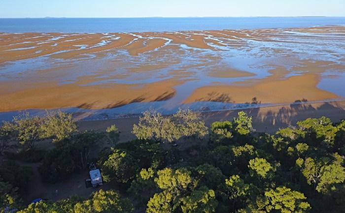 Drone View of Carmila Beach