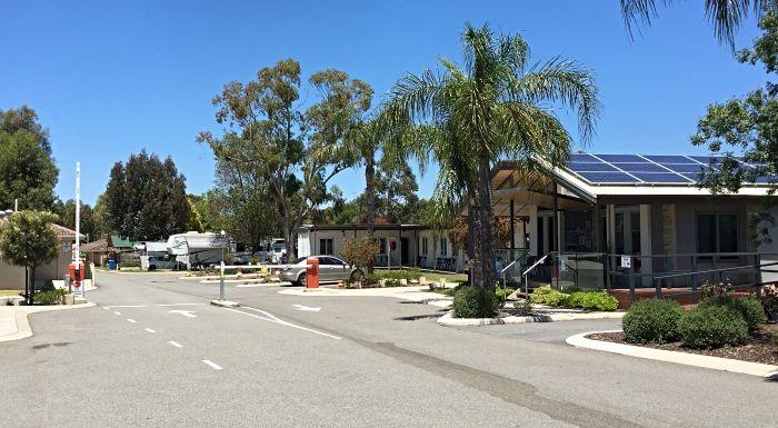 Midland Caravan Park in Perth has Gated Access