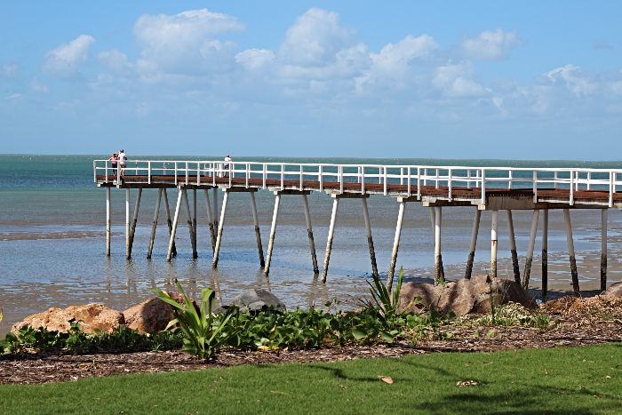 Stay at the Hervey Bay 48hr Rest Stop to check out the old Piers in Hervey Bay