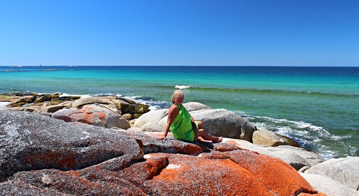 Enjoying our Bay of Fires Camping experience