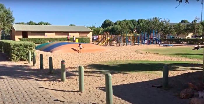 Kids playground and jumping pillow at Ningaloo Coral Bay