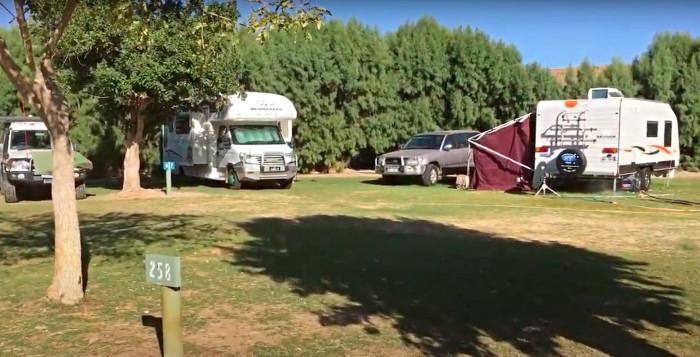 Ningaloo Coral Bay Caravan Park campsite