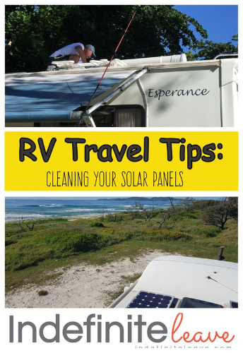 Cleaning your solar panels