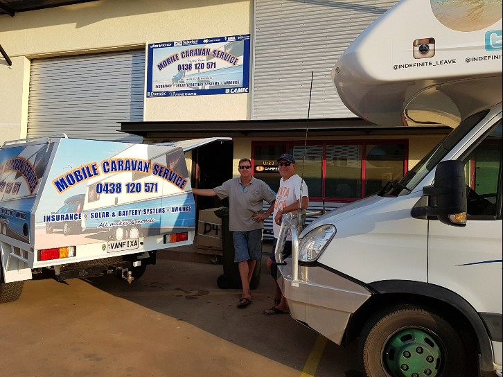 Motorhome Air Conditioner repairs at Mobile Caravan Repairs Darwin