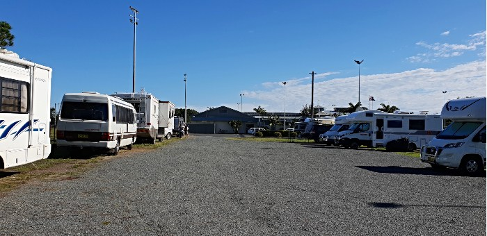 Campsite at Tuncurry Sporties Club