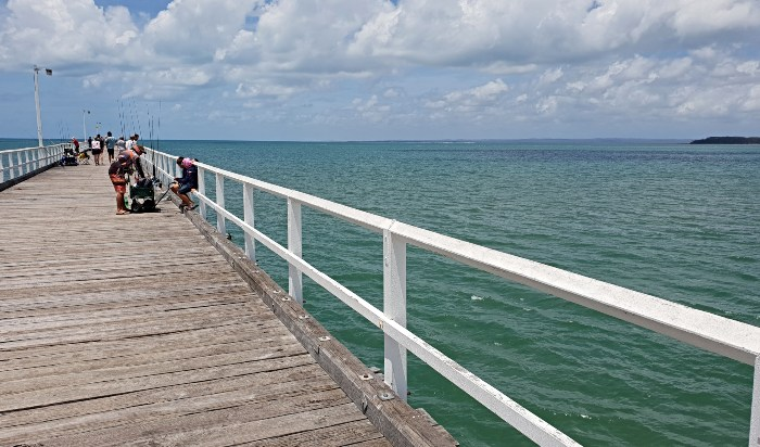 Fishing off Urangan Pier