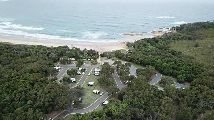 Overview of Diamond Head Campground