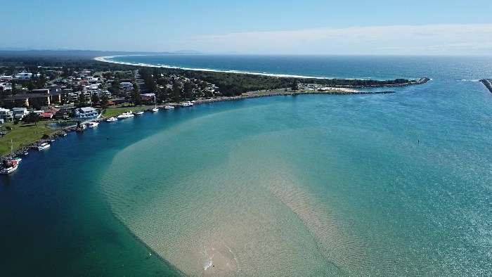 Stunning drone shot of Tuncurry