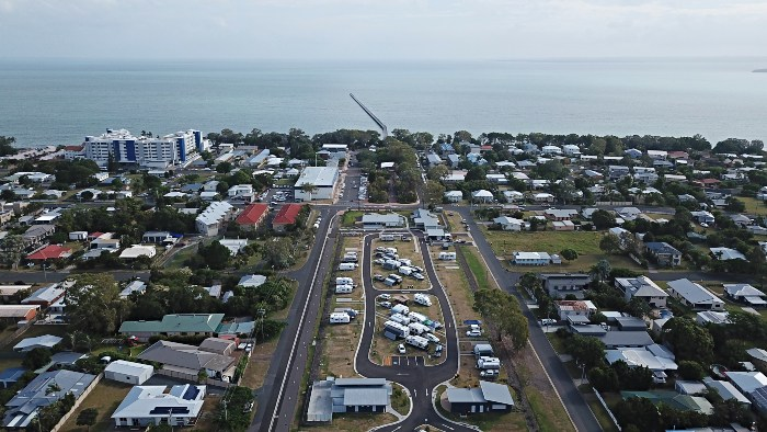 An aerial view of the newest Hervey Bay Caravan Park