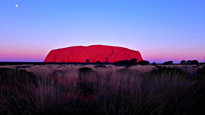 Ayers Rock at Sunset on Full Moon