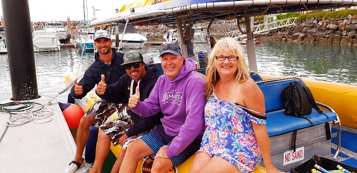 With our guides from our Ocean Rafting Tour