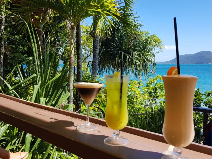 Cocktails on our Day Trip to Fitzroy Island