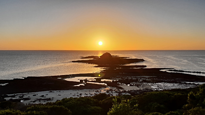 Costs to travel Australia - Sunset at Haycock Point in Ben Boyd National Park was Free