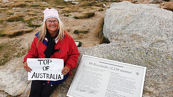 Climbing Mt Kosciuszko - Sitting on Top of Australia